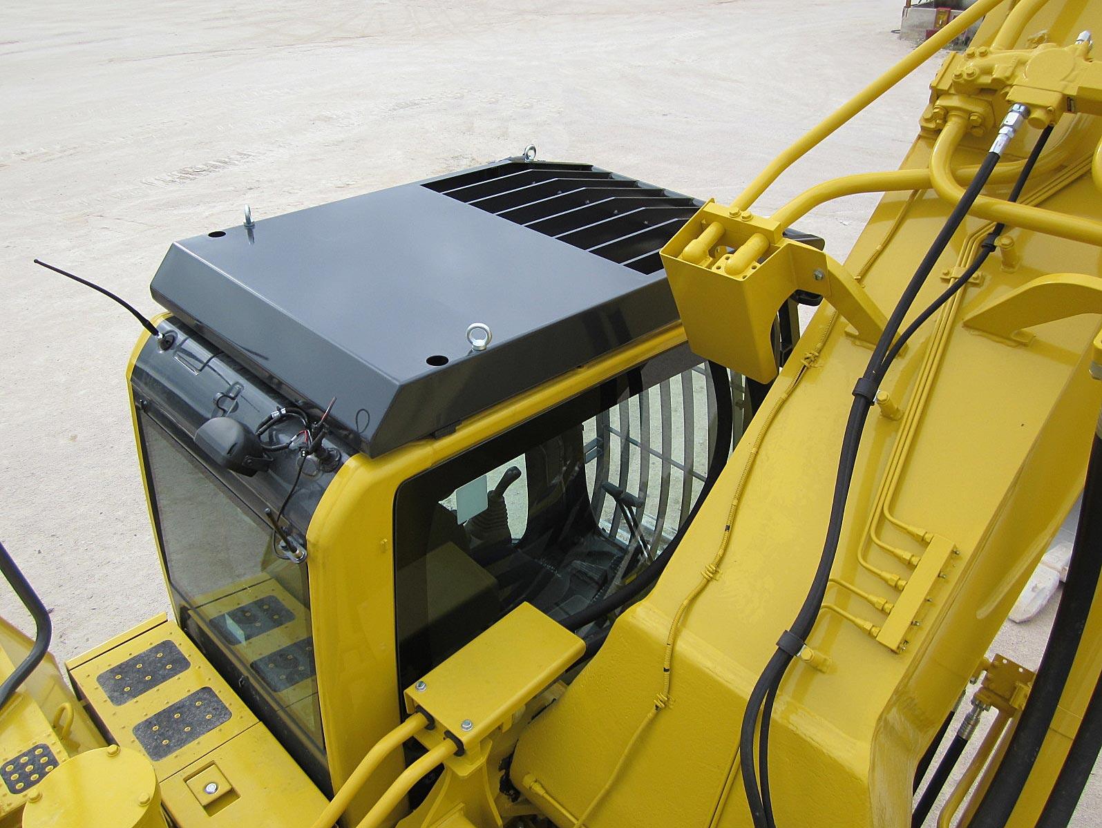 griglia di protezione per escavatore komatsu pc210