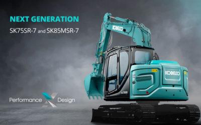 KOBELCO SK75SR-7 e SK85MSR-7 La nuova serie di escavatori 8-9 ton, made in JAPAN